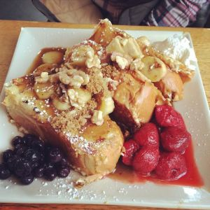 Bananas Foster French Toast at Portage Bay Cafe