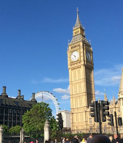 Big Ben and the London Eye