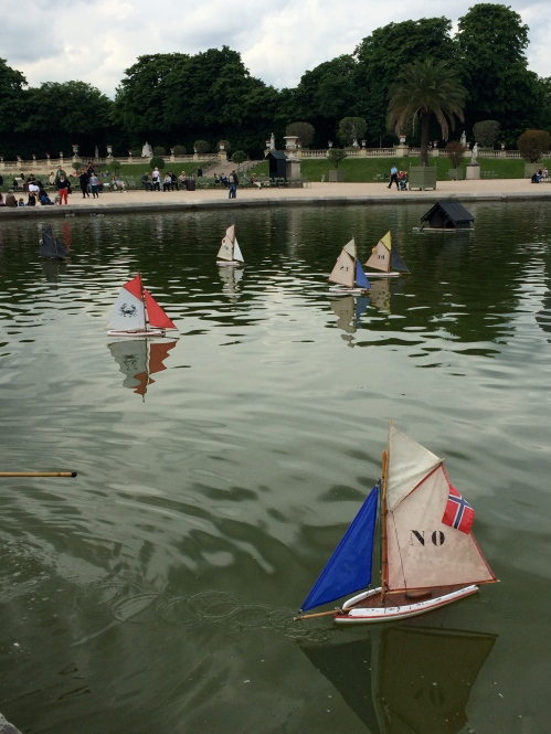 Boats at the Luxemburg Gardens