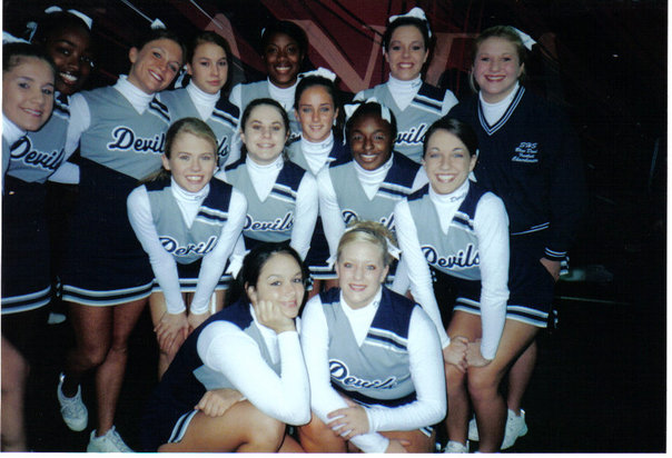 My high school cheer squad circa early 2000s.