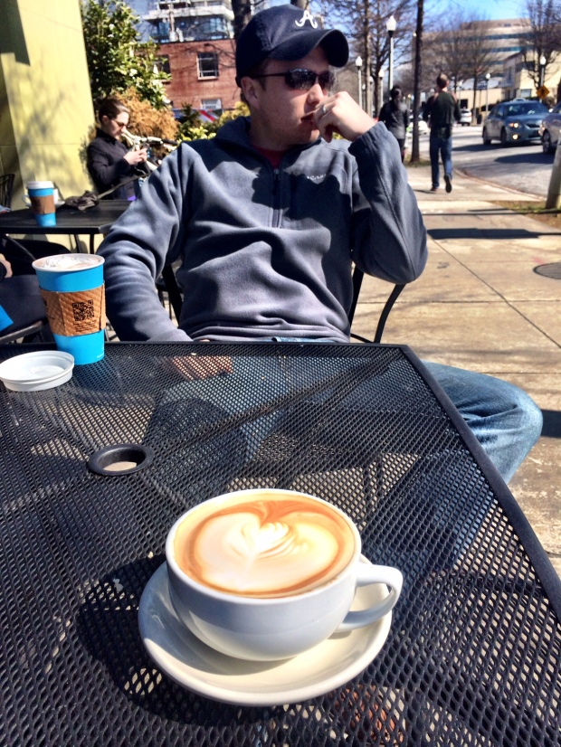 Atlanta roasted coffee + a Decatur view = perfection
